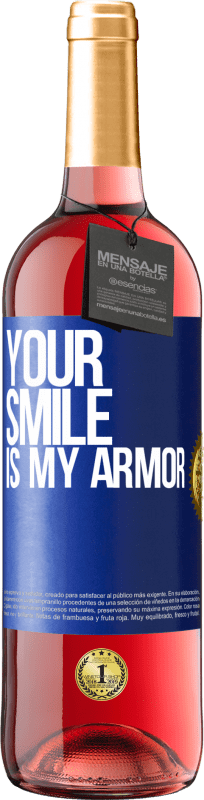 24,95 € Free Shipping | Rosé Wine ROSÉ Edition Your smile is my armor Blue Label. Customizable label Young wine Harvest 2020 Tempranillo