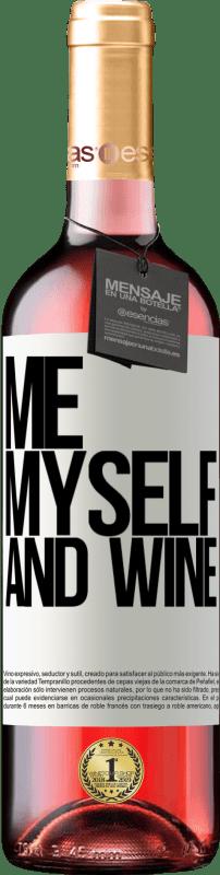 24,95 € Envoi gratuit | Vin rosé Édition ROSÉ Me, myself and wine Étiquette Blanche. Étiquette personnalisable Vin jeune Récolte 2020 Tempranillo