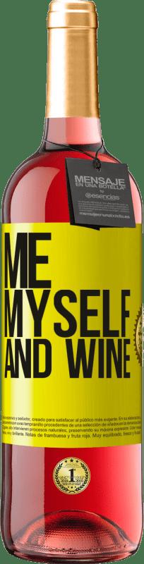 24,95 € Envío gratis   Vino Rosado Edición ROSÉ Me, myself and wine Etiqueta Amarilla. Etiqueta personalizable Vino joven Cosecha 2020 Tempranillo