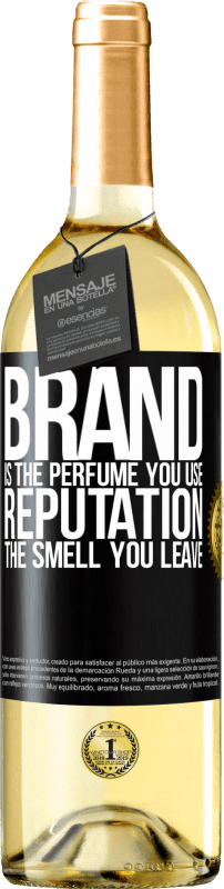 24,95 € Free Shipping | White Wine WHITE Edition Brand is the perfume you use. Reputation, the smell you leave Black Label. Customizable label Young wine Harvest 2020 Verdejo