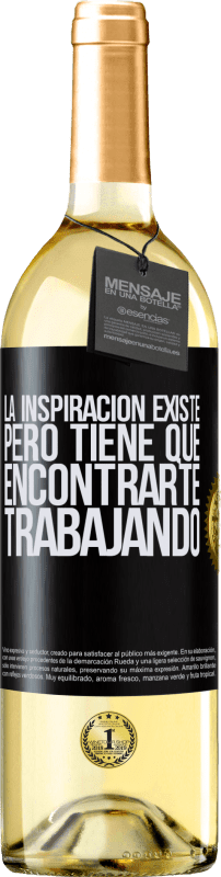 29,95 € Free Shipping   White Wine WHITE Edition Inspiration exists, but it has to find you working Black Label. Customizable label Young wine Harvest 2020 Verdejo