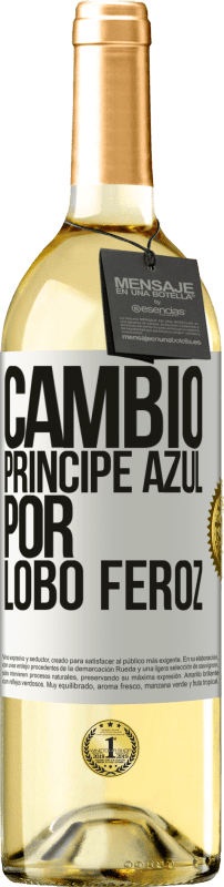 29,95 € Free Shipping | White Wine WHITE Edition Change blue prince for fierce wolf White Label. Customizable label Young wine Harvest 2020 Verdejo