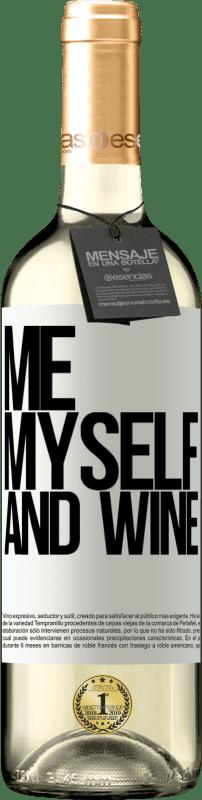 24,95 € Envoi gratuit | Vin blanc Édition WHITE Me, myself and wine Étiquette Blanche. Étiquette personnalisable Vin jeune Récolte 2020 Verdejo