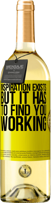 24,95 € Free Shipping | White Wine WHITE Edition Inspiration exists, but it has to find you working Yellow Label. Customizable label Young wine Harvest 2020 Verdejo