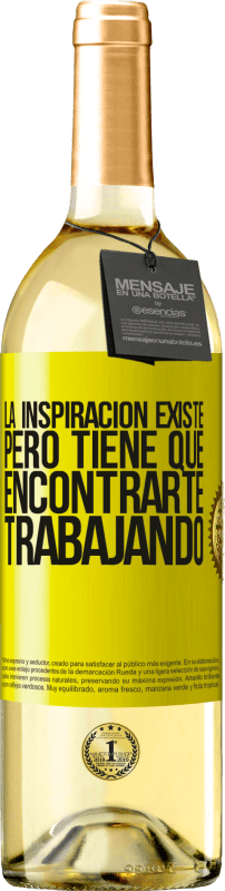 29,95 € Free Shipping   White Wine WHITE Edition Inspiration exists, but it has to find you working Yellow Label. Customizable label Young wine Harvest 2020 Verdejo