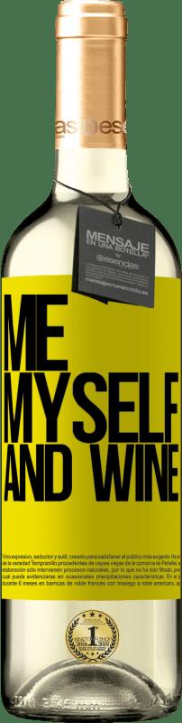24,95 € Envoi gratuit | Vin blanc Édition WHITE Me, myself and wine Étiquette Jaune. Étiquette personnalisable Vin jeune Récolte 2020 Verdejo