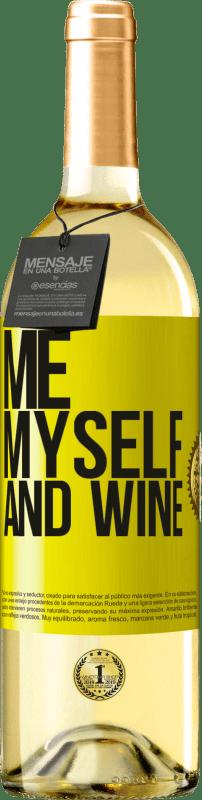 24,95 € Envío gratis   Vino Blanco Edición WHITE Me, myself and wine Etiqueta Amarilla. Etiqueta personalizable Vino joven Cosecha 2020 Verdejo
