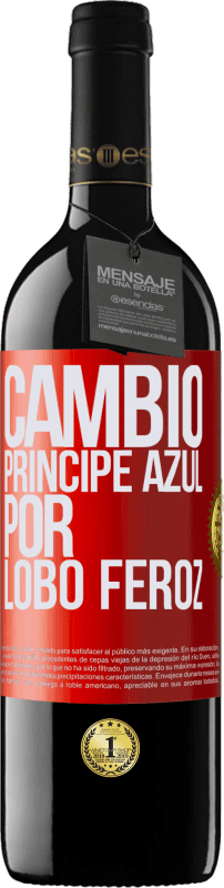 29,95 € Free Shipping | Red Wine RED Edition Crianza 6 Months Change blue prince for fierce wolf Red Label. Customizable label Aging in oak barrels 6 Months Harvest 2018 Tempranillo