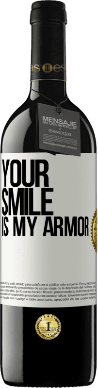 24,95 € Free Shipping | Red Wine RED Edition Crianza 6 Months Your smile is my armor White Label. Customizable label Aging in oak barrels 6 Months Harvest 2018 Tempranillo