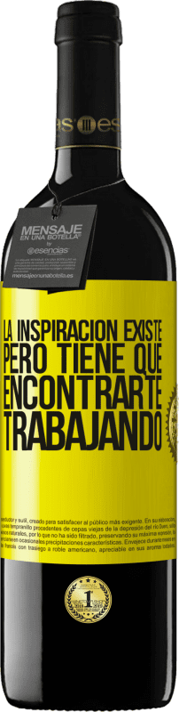 29,95 € Free Shipping   Red Wine RED Edition Crianza 6 Months Inspiration exists, but it has to find you working Yellow Label. Customizable label Aging in oak barrels 6 Months Harvest 2018 Tempranillo