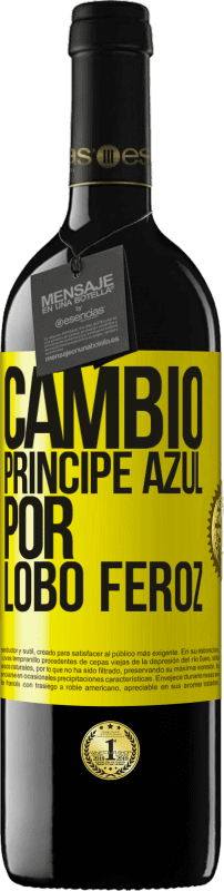 29,95 € Free Shipping | Red Wine RED Edition Crianza 6 Months Change blue prince for fierce wolf Yellow Label. Customizable label Aging in oak barrels 6 Months Harvest 2018 Tempranillo
