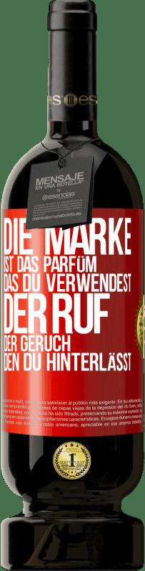 29,95 € Kostenloser Versand | Rotwein Premium Edition MBS® Reserva Marke ist das Parfüm, das Sie verwenden. Ruf, der Geruch, den du hinterlässt Rote Markierung. Anpassbares Etikett Reserva 12 Monate Ernte 2013 Tempranillo