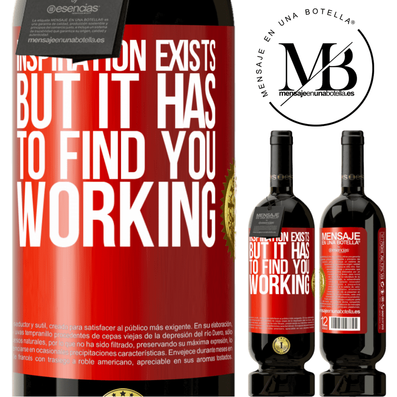 29,95 € Free Shipping | Red Wine Premium Edition MBS® Reserva Inspiration exists, but it has to find you working Red Label. Customizable label Reserva 12 Months Harvest 2013 Tempranillo