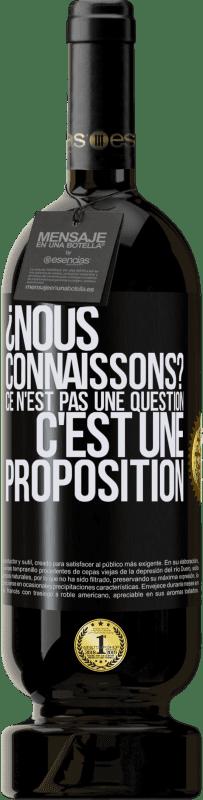 29,95 € Envoi gratuit | Vin rouge Édition Premium MBS® Reserva ¿Nous connaissons? Ce n'est pas une question, c'est une proposition Étiquette Noire. Étiquette personnalisable Reserva 12 Mois Récolte 2013 Tempranillo