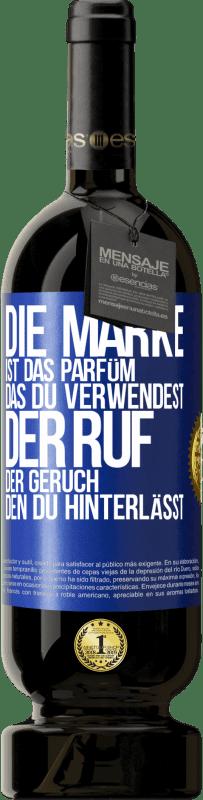 29,95 € Kostenloser Versand | Rotwein Premium Edition MBS® Reserva Marke ist das Parfüm, das Sie verwenden. Ruf, der Geruch, den du hinterlässt Blaue Markierung. Anpassbares Etikett Reserva 12 Monate Ernte 2013 Tempranillo