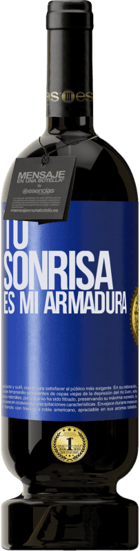 29,95 € Envío gratis   Vino Tinto Edición Premium MBS® Reserva Tu sonrisa es mi armadura Etiqueta Azul. Etiqueta personalizable Reserva 12 Meses Cosecha 2013 Tempranillo
