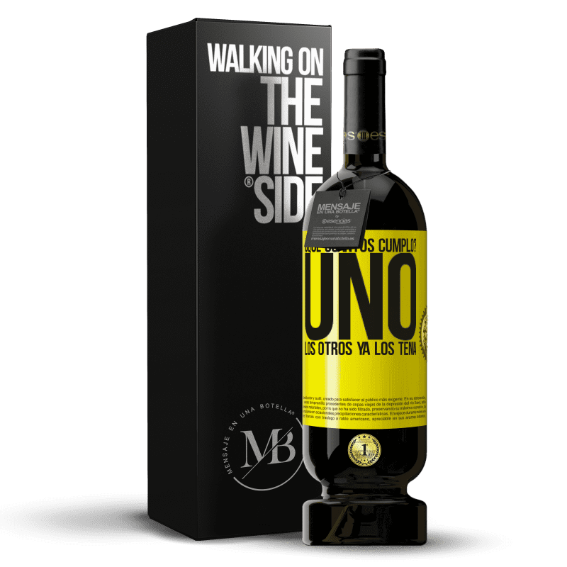 35,95 € Free Shipping | Red Wine Premium Edition MBS® Reserva How old am I? ONE. The others already had them Yellow Label. Customizable label Reserva 12 Months Harvest 2013 Tempranillo