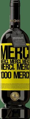 29,95 € Envoi gratuit | Vin rouge Édition Premium MBS® Reserva Merci, Merci, Merci, Merci, Merci, Merci 1000 Merci! Étiquette Jaune. Étiquette personnalisable Reserva 12 Mois Récolte 2013 Tempranillo