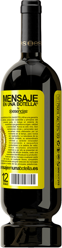 29,95 € Free Shipping | Red Wine Premium Edition MBS® Reserva Even a clock stopped hits twice a day Yellow Label. Customizable label Reserva 12 Months Harvest 2013 Tempranillo