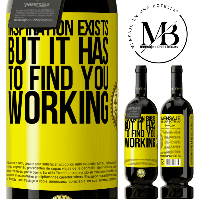 29,95 € Free Shipping   Red Wine Premium Edition MBS® Reserva Inspiration exists, but it has to find you working Yellow Label. Customizable label Reserva 12 Months Harvest 2013 Tempranillo