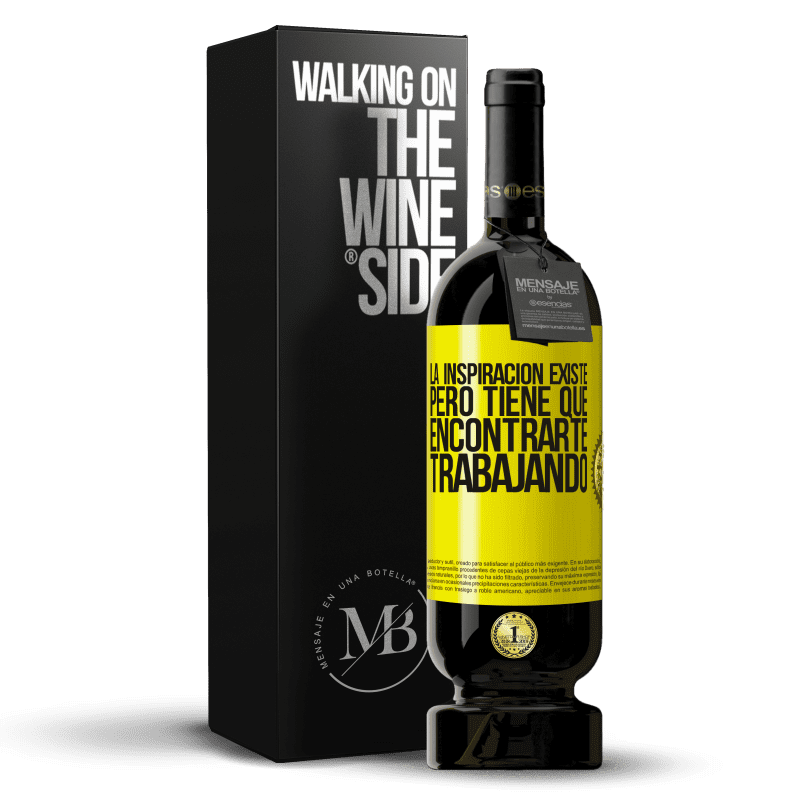 35,95 € Free Shipping   Red Wine Premium Edition MBS® Reserva Inspiration exists, but it has to find you working Yellow Label. Customizable label Reserva 12 Months Harvest 2013 Tempranillo