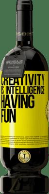 35,95 € Free Shipping | Red Wine Premium Edition MBS® Reserva Creativity is intelligence having fun Yellow Label. Customizable label Reserva 12 Months Harvest 2013 Tempranillo