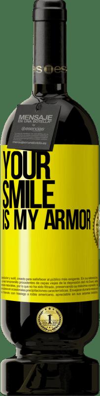 35,95 € Free Shipping   Red Wine Premium Edition MBS Reserva Your smile is my armor Yellow Label. Customizable label I.G.P. Vino de la Tierra de Castilla y León Aging in oak barrels 12 Months Harvest 2013 Spain Tempranillo
