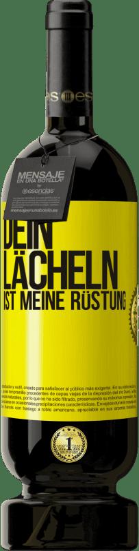 29,95 € Kostenloser Versand | Rotwein Premium Edition MBS® Reserva Dein Lächeln ist meine Rüstung Gelbes Etikett. Anpassbares Etikett Reserva 12 Monate Ernte 2013 Tempranillo