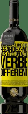 29,95 € Envoi gratuit   Vin rouge Édition Premium MBS® Reserva Regarder est une chose. Regardez-moi, vous êtes un autre verbe différent Étiquette Jaune. Étiquette personnalisable Reserva 12 Mois Récolte 2013 Tempranillo