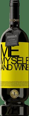 29,95 € 送料無料 | 赤ワイン プレミアム版 MBS® Reserva Me, myself and wine 黄色のラベル. カスタマイズ可能なラベル Reserva 12 月 収穫 2013 Tempranillo
