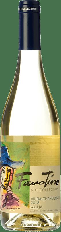 7,95 € Free Shipping | White wine Faustino Faustino Art Collection Viura Chardonnay D.O.Ca. Rioja The Rioja Spain Viura, Chardonnay Bottle 75 cl