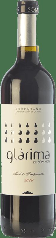4,95 € Free Shipping | Red wine Sommos Glárima Tinto Joven D.O. Somontano Catalonia Spain Tempranillo, Merlot, Syrah, Cabernet Sauvignon Bottle 75 cl