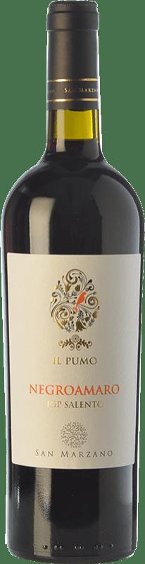 9,95 € Free Shipping | Red wine San Marzano Il Pumo I.G.T. Salento Puglia Italy Negroamaro Bottle 75 cl