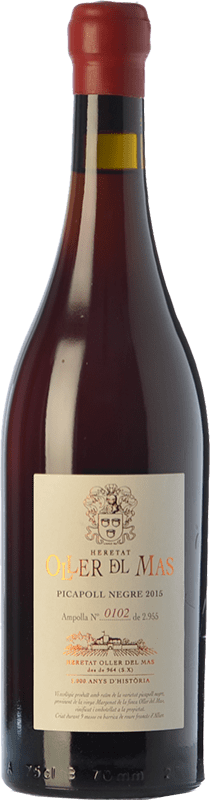 56,95 € Free Shipping | Red wine Oller del Mas Negre Crianza D.O. Pla de Bages Catalonia Spain Picapoll Bottle 75 cl