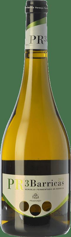 13,95 € Free Shipping | White wine Ventosilla PradoRey PR3 Barricas Crianza D.O. Rueda Castilla y León Spain Verdejo Bottle 75 cl