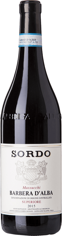 17,95 € Free Shipping | Red wine Sordo Massucchi Superiore D.O.C. Barbera d'Alba Piemonte Italy Barbera Bottle 75 cl