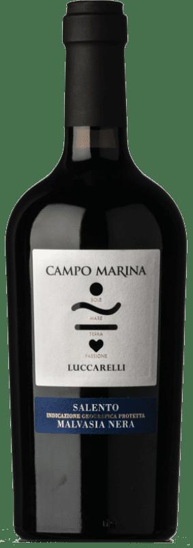 15,95 € Free Shipping | Red wine Vigneti del Salento Luccarelli Campo Marina I.G.T. Salento Puglia Italy Malvasia Black Bottle 75 cl