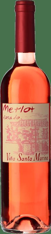 6,95 € Free Shipping   Rosé wine Santa Marina Rosado I.G.P. Vino de la Tierra de Extremadura Estremadura Spain Merlot Bottle 75 cl
