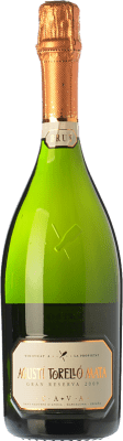 11,95 € Free Shipping | White sparkling Agustí Torelló Brut Gran Reserva D.O. Cava Catalonia Spain Macabeo, Xarel·lo, Parellada Bottle 75 cl | Thousands of wine lovers trust us to get the best price guarantee, free shipping always and hassle-free shopping and returns.