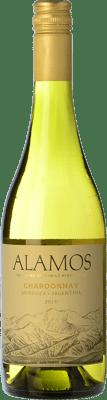 9,95 € Free Shipping | White wine Alamos Crianza I.G. Mendoza Mendoza Argentina Chardonnay Bottle 75 cl