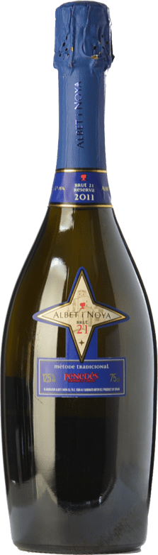19,95 € Envoi gratuit | Blanc moussant Albet i Noya 21 Brut Reserva D.O. Penedès Catalogne Espagne Chardonnay, Parellada Bouteille 75 cl