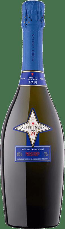 18,95 € Envío gratis | Espumoso blanco Albet i Noya 21 Brut Reserva D.O. Penedès Cataluña España Chardonnay, Parellada Botella 75 cl