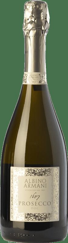 14,95 € Free Shipping | White sparkling Albino Armani D.O.C. Prosecco Veneto Italy Glera Bottle 75 cl