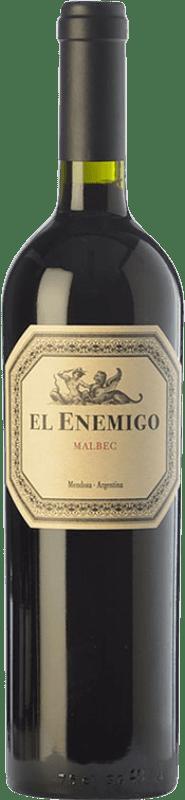 21,95 € Envío gratis | Vino tinto Aleanna El Enemigo Malbec Reserva I.G. Mendoza Mendoza Argentina Cabernet Franc, Malbec, Petit Verdot Botella 75 cl