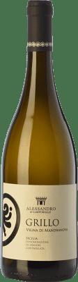 17,95 € Free Shipping | White wine Alessandro di Camporeale V. Mandranova I.G.T. Terre Siciliane Sicily Italy Grillo Bottle 75 cl