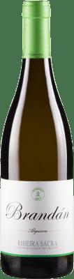 14,95 € Free Shipping | White wine Algueira Brandan D.O. Ribeira Sacra Galicia Spain Godello Bottle 75 cl