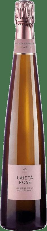 22,95 € Free Shipping | Rosé sparkling Alta Alella AA Mirgin Laietà Rosé Gran Reserva D.O. Cava Catalonia Spain Mataró Bottle 75 cl