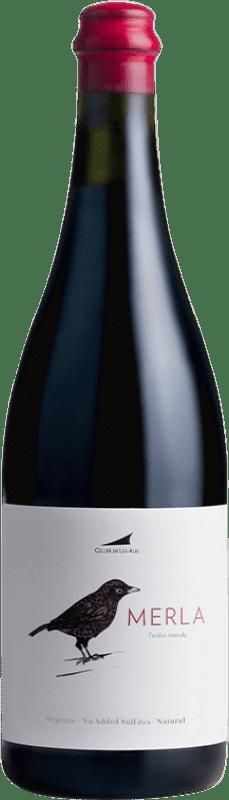 18,95 € Free Shipping | Red wine Alta Alella AA Merla Natural Joven D.O. Alella Catalonia Spain Monastrell Bottle 75 cl