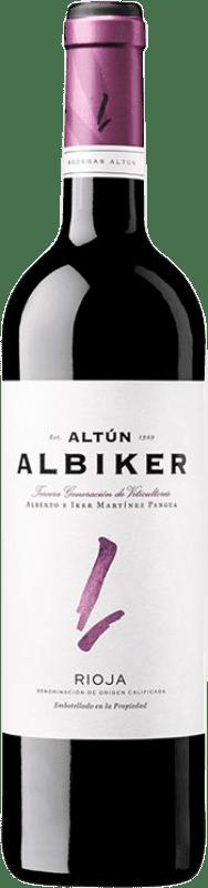 7,95 € Envío gratis | Vino tinto Altún Albiker Joven D.O.Ca. Rioja La Rioja España Tempranillo, Viura Botella 75 cl