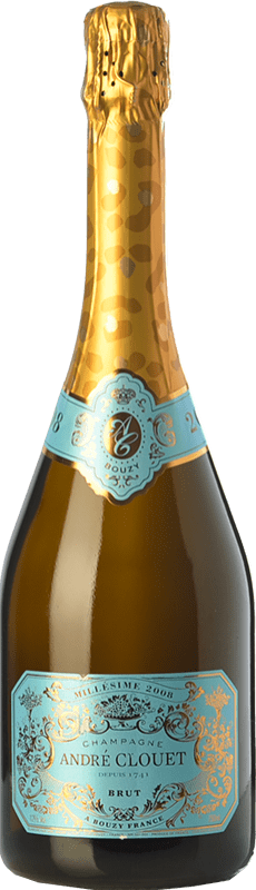 42,95 € Free Shipping | White sparkling André Clouet Millésime Brut Reserva 2008 A.O.C. Champagne Champagne France Pinot Black Bottle 75 cl